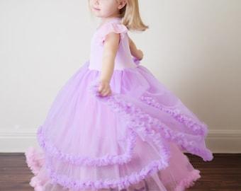 Rapunzel Dress - pettiskirt dress couture Tangled inspired princess dress