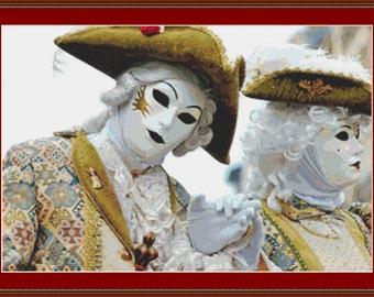 Festival Masks 5 Cross Stitch Pattern
