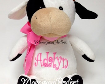Personalized Cow Stuffed Animal Soft Toy