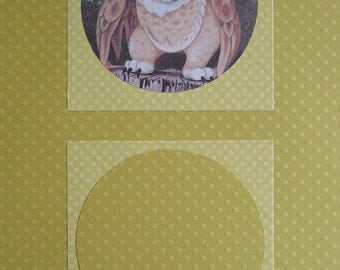 Friend Owl Bambi Blank Notebook Journal Sketchbook, Upcycled Children's Book