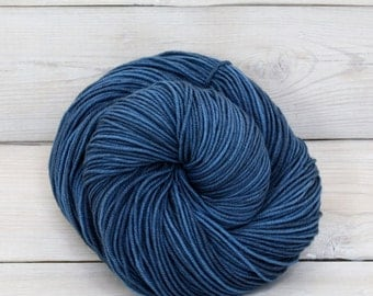Aspen Sport - Hand Dyed Superwash Merino Wool Sport Yarn - Colorway: Marine
