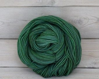 Orion - Hand Dyed Superwash Merino Wool Sport Yarn - Colorway: Viridian