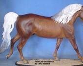 Dark Dappled Palomino MORGAN Stallion painted by Chris Flint