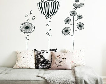 Doodle Birds - Wall Sticker - Wall Decal