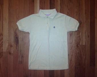 vintage penguin mesh polo shirt men's size medium 80s