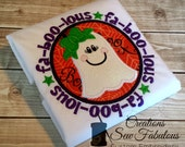 Fa-boo-lous Shirt - Girls Halloween Shirt - Fabulous - Ghost Applique Tshirt - Halloween Applique - Fall Clothing