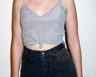 90s High Waisted Black Studded Shorts