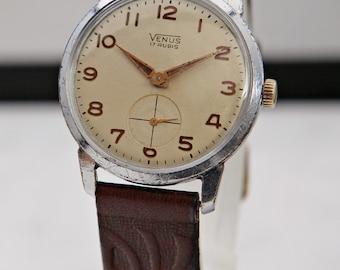 vintage venus watch - fine swiss watch - 1950's