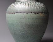 Stoneware Vase Green T 48