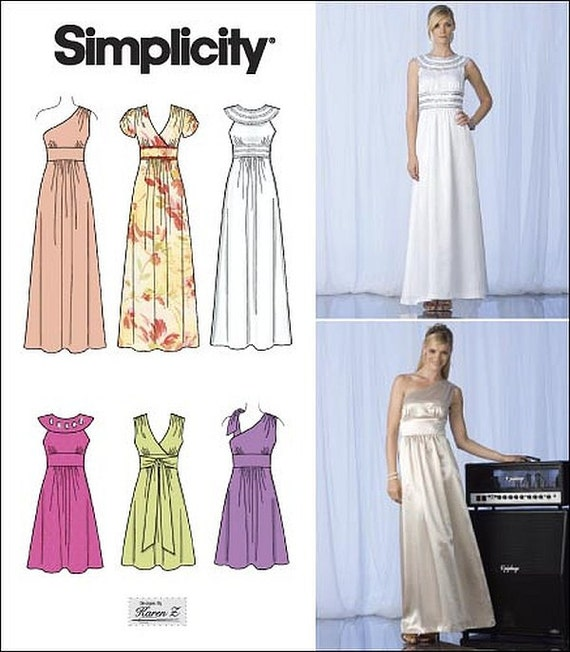 Womens Formal Dress Pattern Simplicity 2692 Size 12 14 16 18