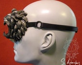 silver lion latex monocle with strap