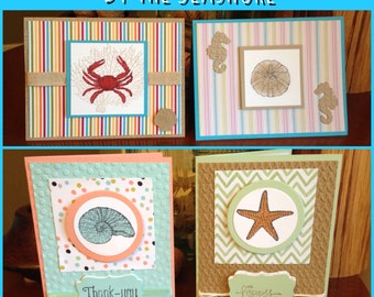 Set 0f 4 By The Seashore Cards