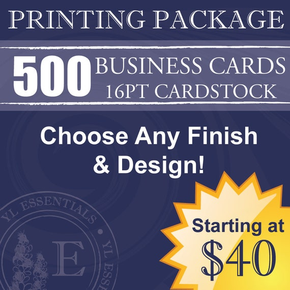 500 Young Living Business Cards Design & Printing by