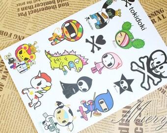 1 Sheet Waterproof Suitcase Sticker - Laptop Sticker  - Deco Sticker - Masking Sticker - Diary Sticker - Style B