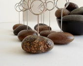 Seaside Event Place Card Holders Using Small Beautiful Brown Beach Stones