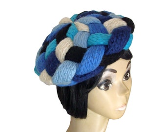 60's Tam Hat Germany Knit & Woven