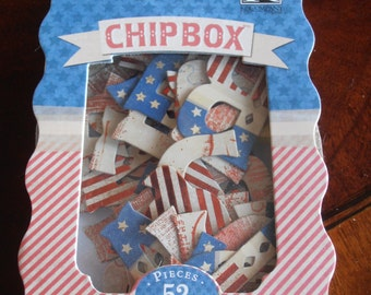Americana Chipboard Alphabet - 52 pieces - K & Company - Americana