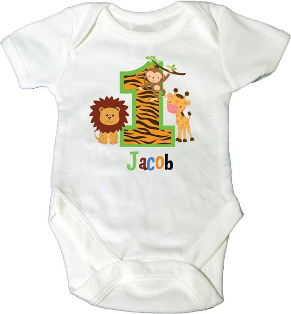 Items Similar To 1st Birthday Bodysuit With Jungle Theme