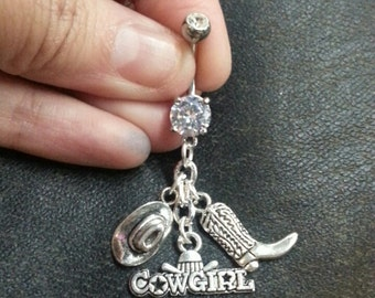 Country Cowgirl Belly Ring -FREE SHIPPING