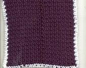 Seed Stitch Crochet Dishcloth