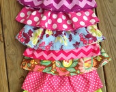 Pick 3 Infant baby newborn 0-3 to 12-18 month skirts to go with little shirts or over onesies for summer custom colors chevron fabrics