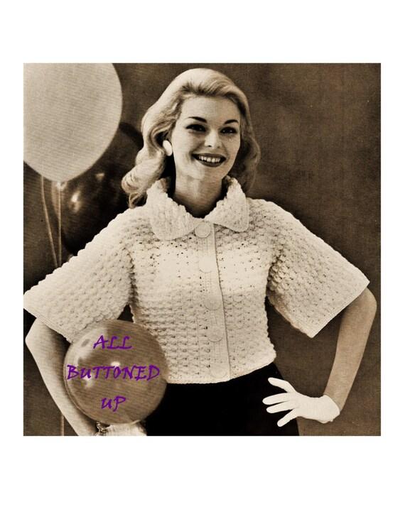 Knitting Pattern Evening Jacket : Digital Download Crocheted Evening Jacket Pattern Beautiful