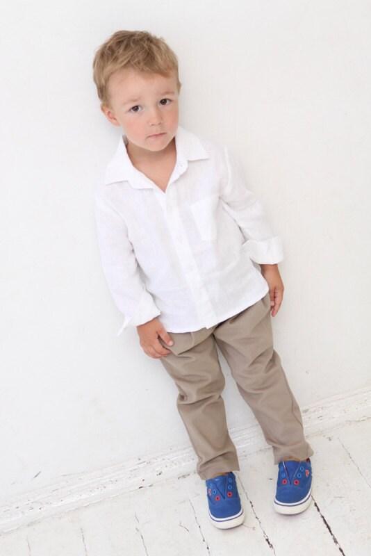 Baby Boy dress shirt Wedding party 1st birthday Baptism Long