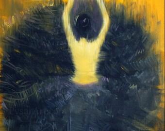 Black and yellow giclee - canvas art print - Modern wall art woman print - ballet dancer gift