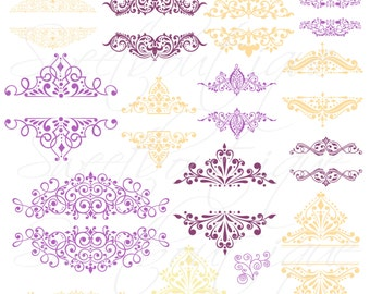 Purple Vanilla Design elements - 17 clipart elements, Personal and Small Commercial Use 0291