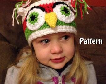 Children's Crochet Hootie Owl Headband Instant Download PDF File Pattern