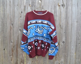 Vintage Towncraft Sweater// Oversized// Large