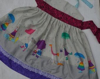"RTS Hadley's ""Splash"" Halter dress, size 4"