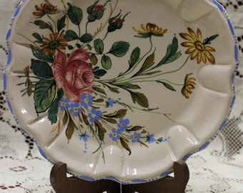 Italian Hand Painted Floral Plate