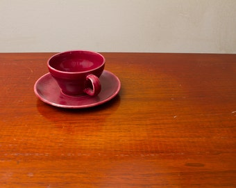Burgandy Coffee Cup 1940