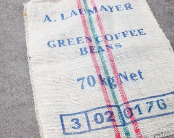 Large Reclaimed Green Coffee Beans Burlap Coffee Bag