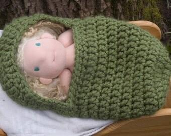 Waldorf Baby Doll Sleep Sack Bed