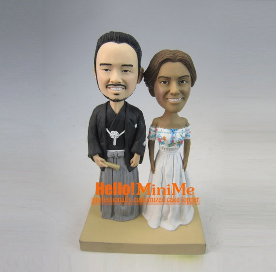 bobblehead wedding cake topper cake topper wedding cake topper bobblehead custom cake topper 1994