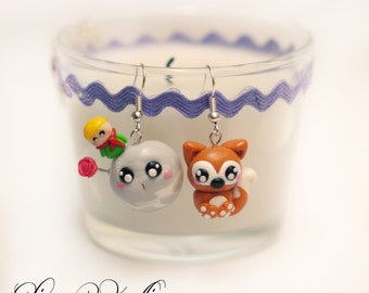 little prince earrings - polymer clay - handmade