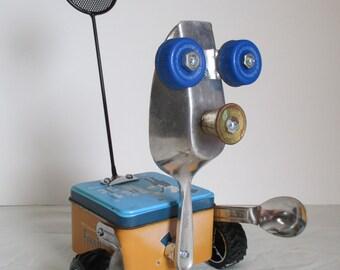 SCOOPER- Found object robot sculpture~assemblage