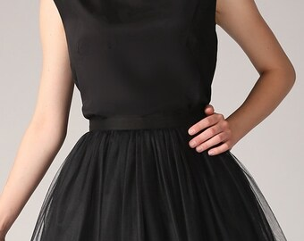 Black silk blouse,Handmade silk blouse,Black silk top,Handmade silk top, 100% silk blouse,Casual silk top,Bridesmaids blouse,Bridesmaids top
