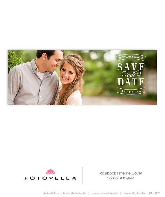 save the date facebook cover engagement announcement by fotovella. Black Bedroom Furniture Sets. Home Design Ideas