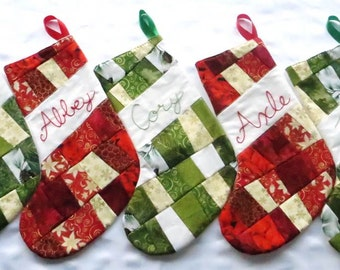 Personalized Christmas Stocking - Custom Embroidery