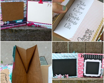 Custom Scrapbook, Custom Guestbook, Ready to Finish Scrapbook, Handmade Scrapbook, Pre-Made Scrapbook, Photo Album,