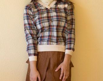 Vintage plaid pullover
