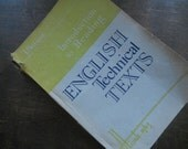 Vintage Soviet book 60s English Technical Texts issued in Minsk USSR era 1963