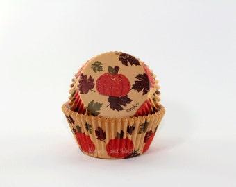 Pumpkin Cupcake Liners - Thanksgiving Fall Autumn - 50 Baking Cups - Wilton - 402521