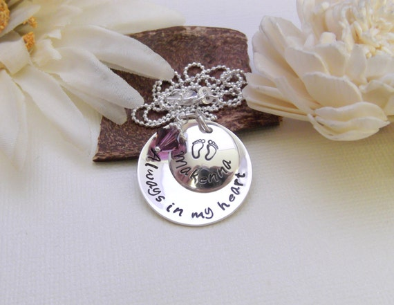 Always In My Heart- Memorial/Remembrance Necklace- Memorial Jewelry- Infant Loss-Child Loss
