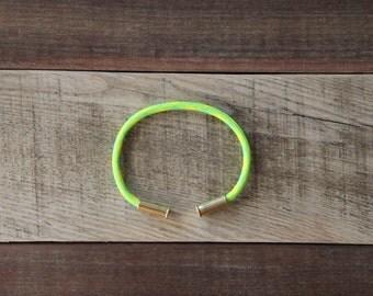 BRZN Bullet Casing Bracelet Slimer Camo recycled .22lr shells neon green neon yellow camo 550 paracord wire men women