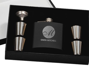 Personalized Groomsman Gifts, Flasks, Best Man Gift Box, 3, Flask, Best Man Gift, Father of the Groom Gift, Gifts for Him, Wedding Party