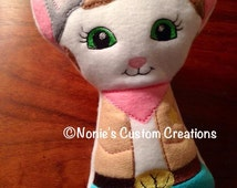 Sheriff Callie Cat Wild West Inspired Stuffed Doll - Large
